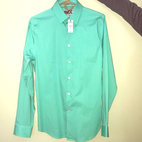 ec4ab1162b6f Express Shirts | 1mx Mint Green Dress Shirt | Poshmark